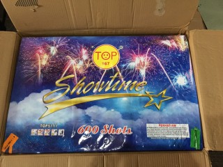 Kembang Api Cake Showtime 600 Shots 0,8 Inch